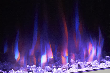 image of flame effect colour Orange Blue