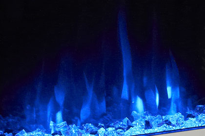 image of flame effect colour Blue