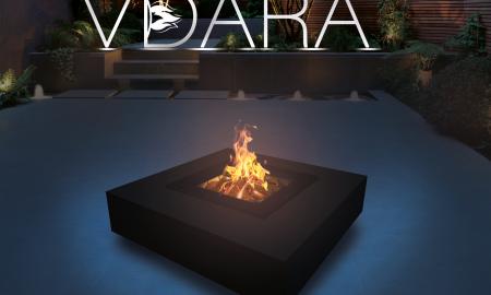 Vdara Black fire pit