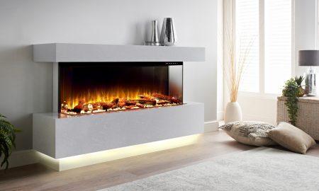 electric fire suite modern classic